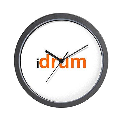 CafePress – I Drum (orange) Wall Clock – Unique Decorative 10″ Wall Clock For Sale