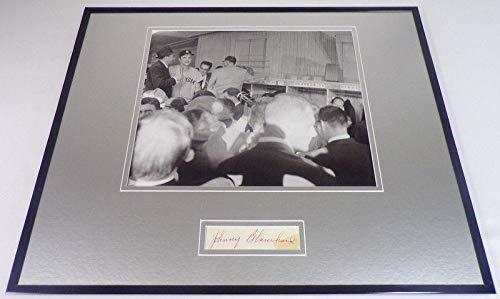 Autographed Blanchard Photograph - Framed 16x20 Display - Autographed MLB Photos