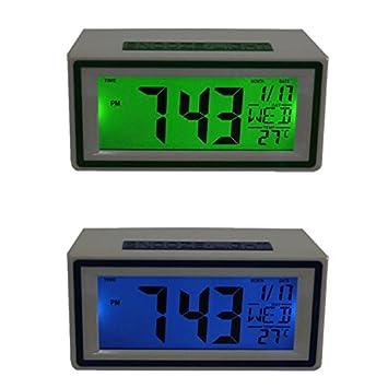 Miss Fortan Moda Inteligente Reloj Inteligente LED Snooze Temperatura Calendario Alarma: Amazon.es: Hogar