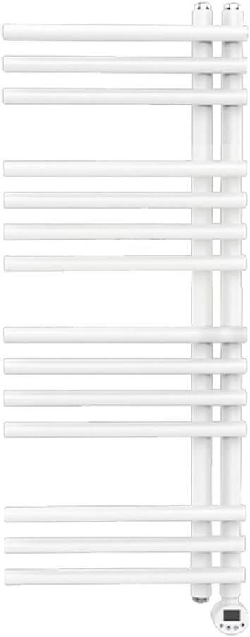 バスルームタオルウォーマー、タオルホルダーラックタオルレールラジエーター加熱ラダーサーモスタット電気加熱フラットパネルバスルーム