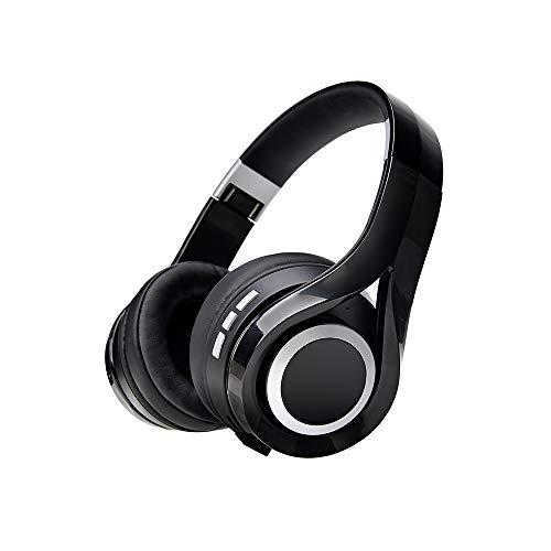 Holawin Bluetooth Headphone,Foldable,Soft Earmuffs,Hi-Fi Stereo Wireless Headset, for TV/PC/Cellphone - Black