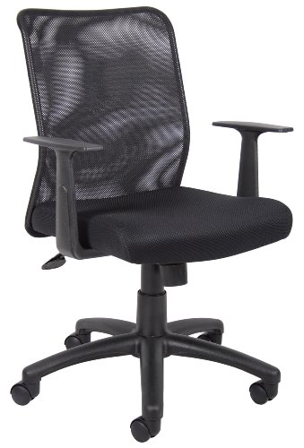 (Boss Office Products B6106 Budget Mesh Task Chair with Arms in Black)