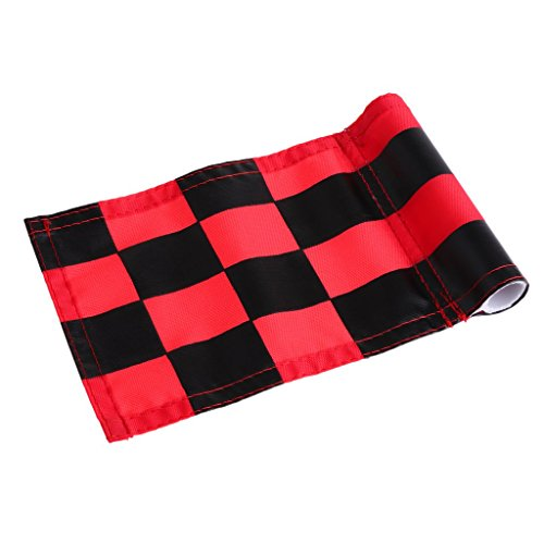 Prettyia 4Pcs Golf Chequered Flag Backyard Outdoor Putting Green Practice Aids Flags for Golf Club by Prettyia (Image #6)