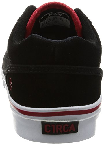 C1RCA Men's Gravette Durable Cushioned Skate Skateboarding Shoe, Indy/Black/White, 9 M US