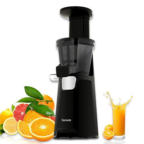 Kenwell Slow Juicer, Juicer Machine with 150W power, Whole Juicer Chute for Fruits and Vegetables, Slow Juicer Extractor Easy to Clean with Pre-Clean Function and Quiet Motor