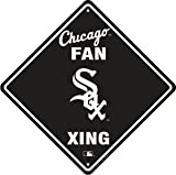 Chicago White Sox Fan Metal Crossing Sign 12 inch by 12 inch Team colors and logo