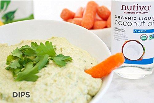 Nutiva Organic, Unrefined, Liquid Coconut Oil from Fresh, non-GMO, Sustainably Farmed Coconuts, 16-ounce by Nutiva (Image #3)