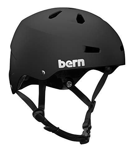 BERN - Summer Team Macon EPS Helmet, Matte Black, Large