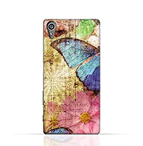 Sony Experia XA1 TPU Silicone Case with Vintage Butterfly Pattern