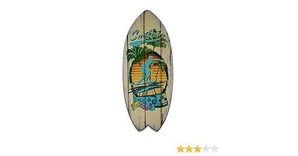cuadro tabla de surf, impreso sul placa de madera, 60 x 25 cm, marca Visario ® 4501