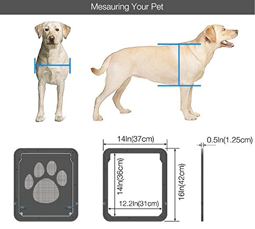 Petetpet Dog Door Cat Doors Pet Screen Door With Magnetic And