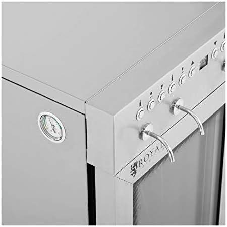 Royal Catering Nevera Para Vinos Refrigerador Vinoteca RC-WDSS6 (Potencia: 120 W, Con dispensador, Para 6 botellas, Acero inoxidable, vidrio y plástico)