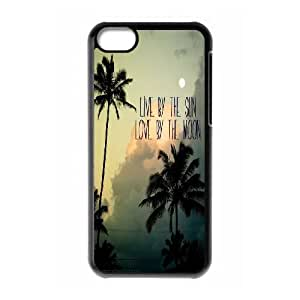 ZK-SXH - Sun and Moon Personalized Phone Case for iPhone 5C, Sun and Moon Customized Case