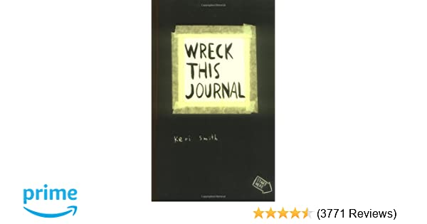 Wreck This Journal Everywhere By Keri Smith 144 Pages English Original Book Wreck This Journal expanded Ed Free Shipping black