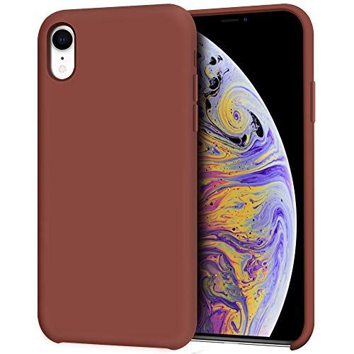 - Anuck iPhone XR Case, Anti-Slip Liquid Silicone Gel Rubber Bumper Case with Soft Microfiber Lining Cushion Slim Hard Shell Shockproof Protective Case Cover for Apple iPhone XR 6.1