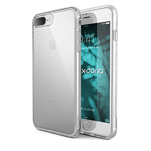 X-Doria Scene Series – Protective Co-Molded Shell, Shock-Absorbing Case for Apple iPhone 7 Plus – CLEAR