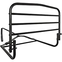 Stander 30 Safety Adult Bed Rail - Home Elderly Bedside Safety Rail + Swing Down Assist Handle