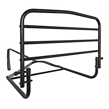 Image of Health and Household Stander 30' Safety Adult Bed Rail - Home Elderly Bedside Safety Rail + Swing Down Assist Handle
