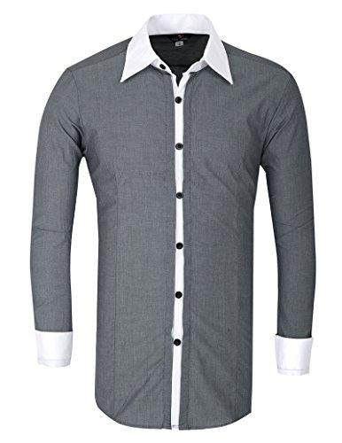 Buy grey dress pants with white shirt - 6