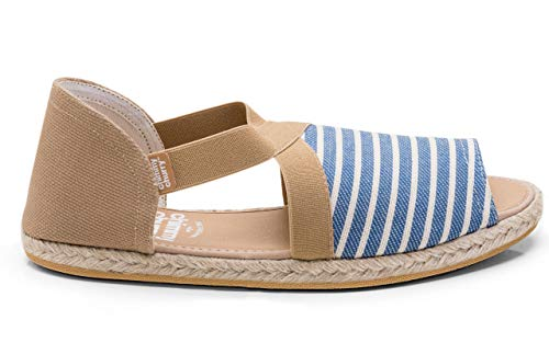 CHIMMY CHURRY, Fit Sandals, Navy Striped Size 5