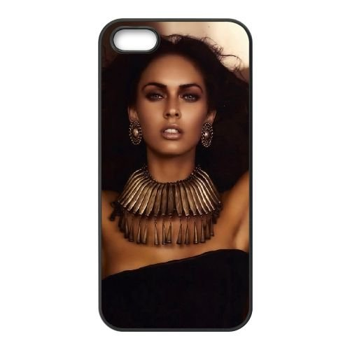 Incredible Megan Fox coque iPhone 5 5S cellulaire cas coque de téléphone cas téléphone cellulaire noir couvercle EOKXLLNCD24543