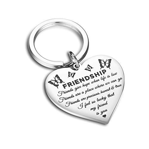 CJ&M Best Friend Bracelets - Side by Side Or Miles Apart Compass Best Friends Bangle Bracelets Adjustable,Long Distance Friendship Gifts,Sister Gift Jewelry (Butterfly)