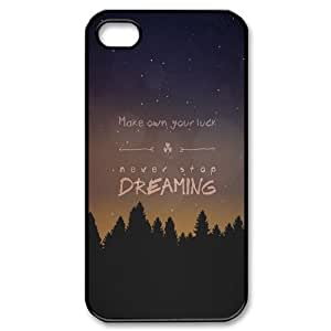 Make Your Own Luck iPhone 4/4s Cases Cheap For Girls, Iphone 4 Case Cute [Black]