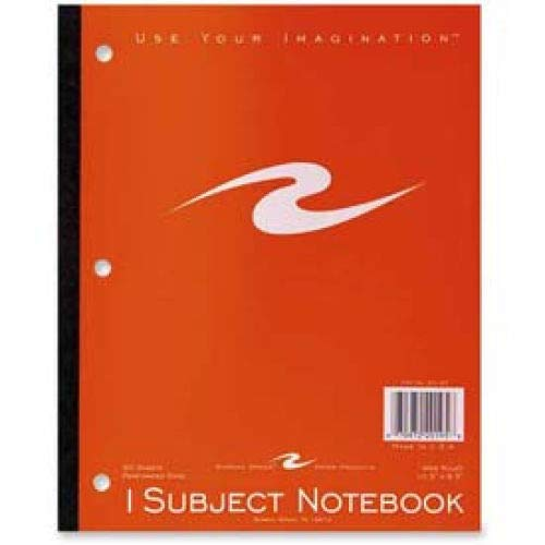 Roaring Spring 1-Subject Wireless Notebook, 8-1/2'' x 10-1/2'', Wide Ruled, 50 Sheets/Pad (4 Pads)
