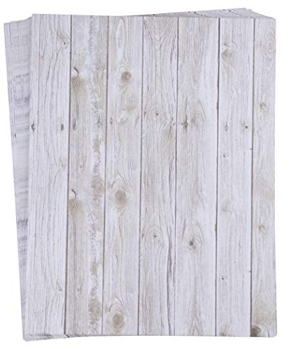 96-Sheet Stationery Paper - Rustic Wood Panel Designs, Double Sided Prints, Perfect for Printing, Copying, Crafting, Letter, Certificate, Invitations, Letter-Size, 8.5 x 11 ()