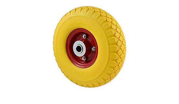 Solid Wheel for Wheelbarrow - Professional or Domestic Puncture Resistant with Metal Centre - - Amazon.com