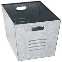 Muscle Rack LB111310 Steel Galvanized Utility Bins 12.9 Width x 20 Height x 18 Depth (Pack of 6) by EDSAL