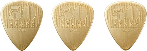 Dunlop 442P 50th Anniversary Nylon Guitar Picks, Pack of - Count 216 Pack