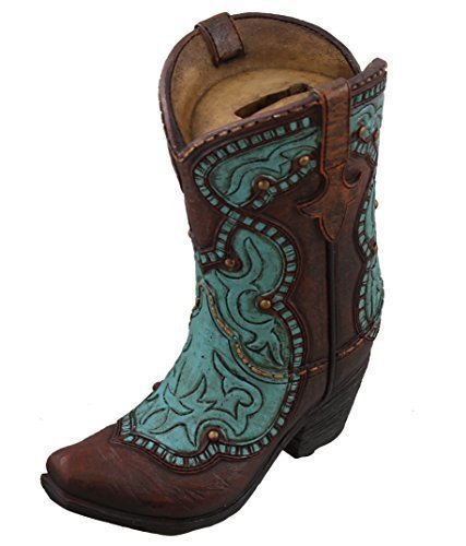 Horse Bank Piggy - Western Cowboy Boot Piggy Bank - Turquoise Accents