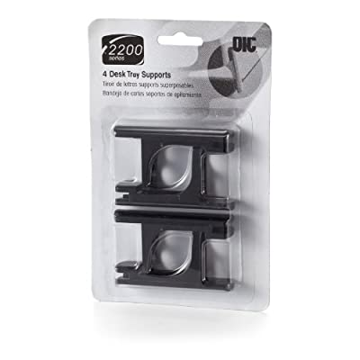 Officemate 2200 Series Executive Desk Tray Supports, Set of 4, Black (22052)