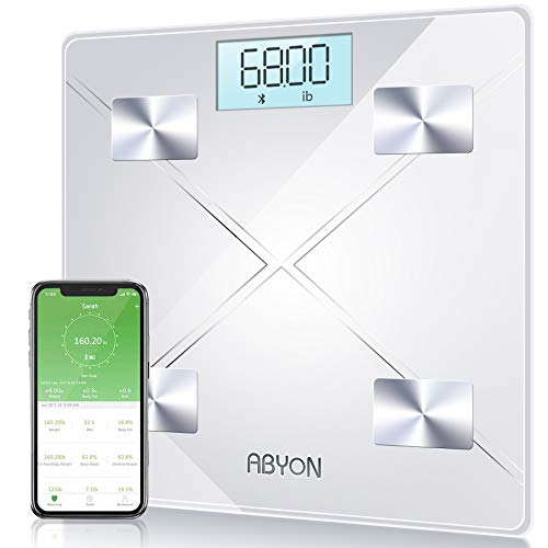 Upgraded Version – Bluetooth Smart Body Fat Scales Digital Weight Scale,Bathroom Scale, Auto Monitor 13 Body Composition Analyzer with Smartphone APP – Perfect for Weight Lose or Health Monitor