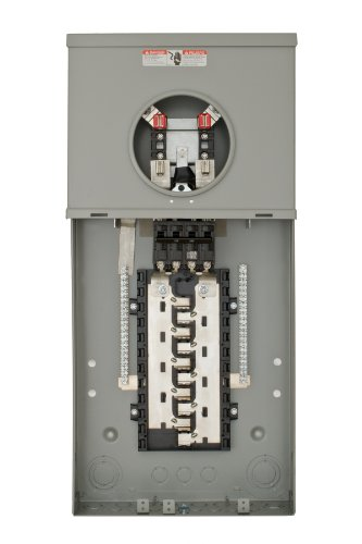 Combination Panel - Siemens MC2040B1200S 20 Space 40 Circuit 200-Amp Surface Mount Meter Load Center Combination with Ring Type Cover