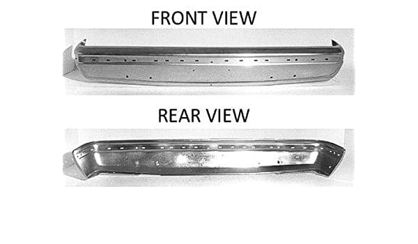 Front Bumper Compatible with 1987-1991 Ford F-150 F-350 Chrome with Impact Strip Holes F-250