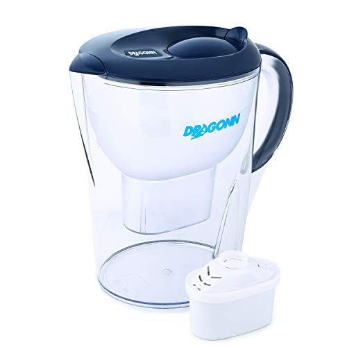DRAGONN pH Restore Alkaline Water Pitcher - 3.5 Liters, Free Filter, 7 Stage Filtration System, Removes Lead, Chlorine, Copper and More, PH 8.5-9.5 Enhanced 2019 Model
