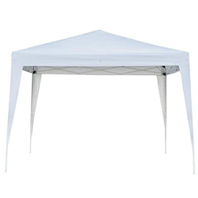 3X3m Outdoor Party Tent Canopy Tent, Waterproof Folding Patio Gazebo Sun Shelter with Two Doors & Two Windows, White : Garden & Outdoor