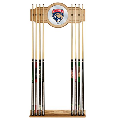 Trademark Gameroom NHL Florida Panthers Cue Rack with Mirror by Trademark Gameroom