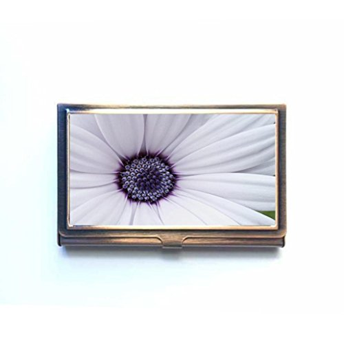 Flowers Macro Custom Business Bank Name Card Case Holder Bronze Box Pocket Credit Card Id Wallet