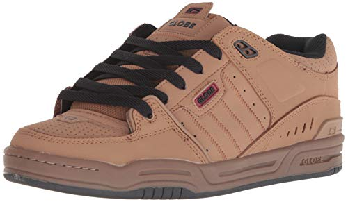 Globe Men's Fusion Skate Shoe, Tobacco Brown/Gum, 11.5 Medium US -
