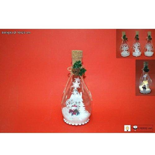 Botella de cristal con Scenario Nevado y diseño navideño con ...
