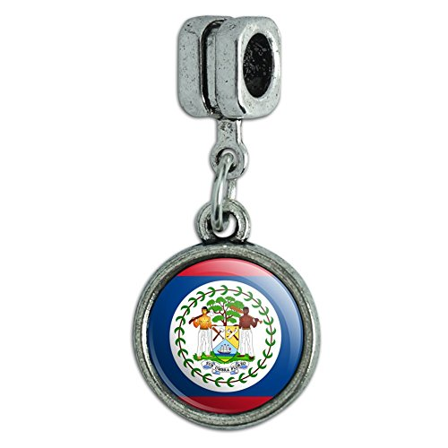 Italian European Style Bracelet Charm Bead Country National Flag A-C - Belize National Country Flag