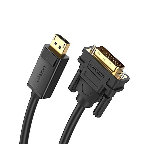 le Male to Male DisplayPort to DVI-D 24+1 Adapter Video Cable Support 1080P Full HD with Gold-Plated for DisplayPort Enabled Desktops Laptops to Connect to DVI Screen 6FT ()