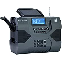 Kaito Emergency Radio Voyager Max KA900 Digital Solar Dynamo Crank Wind Up AM/FM/SW & NOAA Weather Stereo Radio Receiver Bluetooth, Real-time Alert, MP3 Player, Recorder & Phone Charger, Black