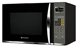 Emerson MWG9115SB, 1.2 Cu. Ft. 1100W Touch Control, Stainless Steel Microwave Oven with Grill (Certified Refurbished) (1.2 cu. ft., Black)