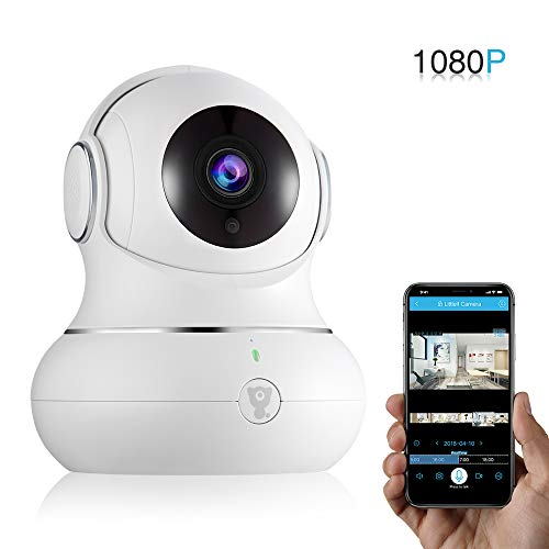 Wireless Home IP Camera - Littlelf 1080P Wireless WiFi Camera, Zoom/Tilt/Pan Cloud Cam, WiFi Indoor Security Surveillance System/Night Vision/2-Way Audio, Pet Camera (White)