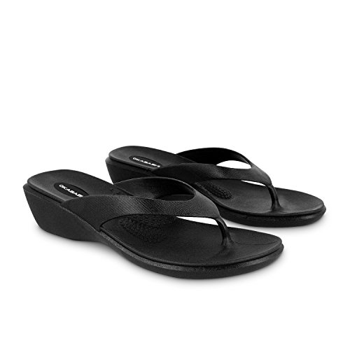 Okabashi Women's Splash Flip Flops - Sandals Black (Aspire Sandals)