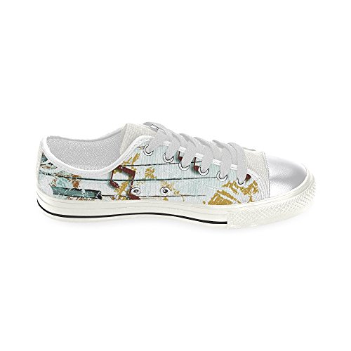 D-story Custom Music Note Womens Classic Canvas Shoes Fashion Sneaker